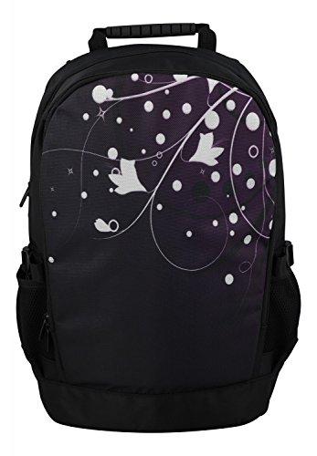 MySleeveDesign mochila cartera con compartimento para portátiles �?VARIOS DISEÑOS White Flowers