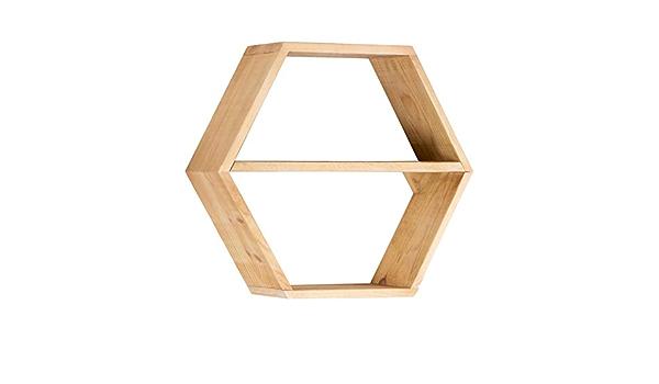 BANAK IMPORTA Nordic Hexagone - Madera (60 x 20 x 52 cm ...