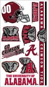 Alabama Crimson Tide Temporary Tattoos - Alabama Crimson Tide Temporary Tattoos