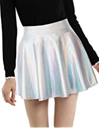 Women's Casual Fashion Shiny Metallic Skirt