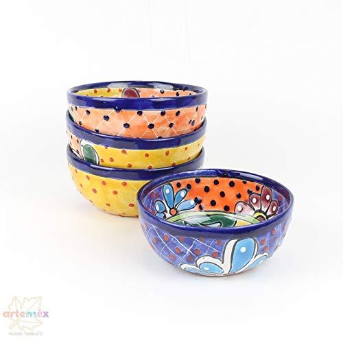 - Mexican Talavera Bowls - Mexican Dishes - Mexican Plates - Mexican Ceramic Bowls - Mexican Kitchen Decor - Talavera Bowls - Handpainted Bowls - SET OF 4 Cereal Bowls