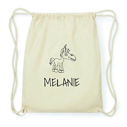 JOllipets MELANIE Hipster Turnbeutel Tasche Rucksack aus Baumwolle Design: Pferd