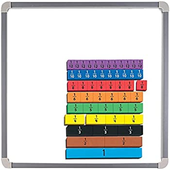 Amazon.com: Magnetic Rainbow Fraction Tiles: Office Products