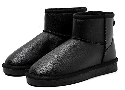Unie Low Dame Chaussures D'hiver Classic Couleur Aisun Bottine Noir Boots Femme Iq4t6TwB