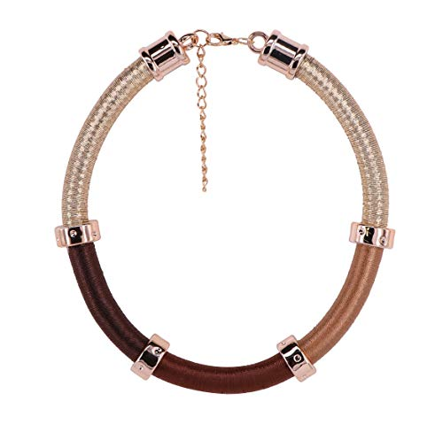 GMQHD African Necklace Choker for Women Fashion Jewelry Sets Collar Box for Birthday Christmas.(Brown)