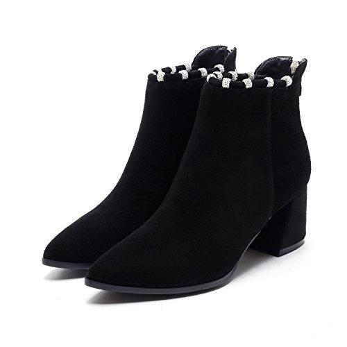 DYF Sharp botas tal desnuda zapatos Mujer cortas rq60r