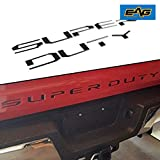 EAG Black Tailgate Insert Letters Fit for 2017-2019 Ford Super Duty F250 F350 F450