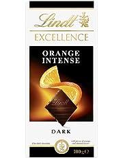 Lindt Excellence Dark Orange Chocolate Block - 100g