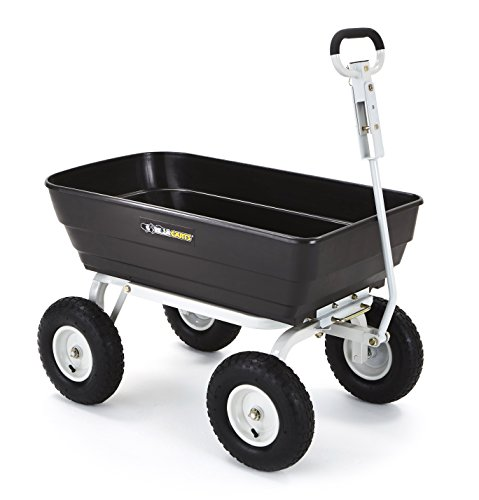 Gorilla-Carts-Poly-Garden-Dump-Cart-with-2-in-1-Convertible-Handle-with-a-Capacity-of-1000-lb-Black