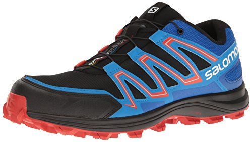 Salomon Men's Speedtrak Trail Runner, Black/Blue Yonder/Lava Orange, 13 M US For Sale