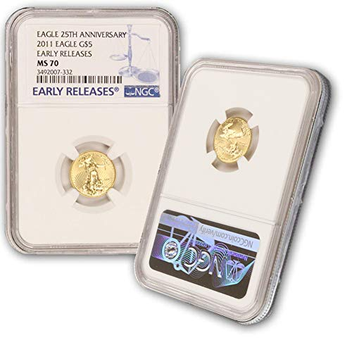 2011 1/10oz American Gold Eagle $5 MS70 NGC Early Releases (Gold Eagle Early Releases)