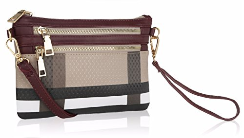 Wristlet | 2-in-1 Crossbody Bags for Women | MKF Collection Roonie Milan Signature ()