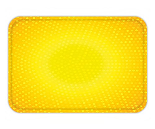 Minicoso Doormat Yellow Decor Illustration Artwork with Ombre Circle in Shades of Yellow Dots White Yellow and - Shades Beyonce In