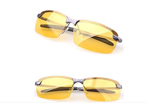 Gemgoo HD polarized Driving Glasses Anti-Glare Sunglasses Night Vision Polarized Aviator Glasses