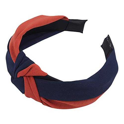 nikunLONGHair Styling Pin Womens Headbands Flower Hat Hairband for Women Navy