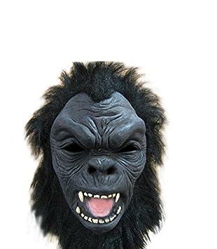 Negro orangután / la cabeza del gorila de látex máscara del traje adulto
