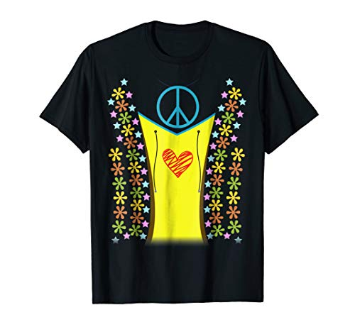 1960s Hippie Costume Shirt Halloween 1970s -