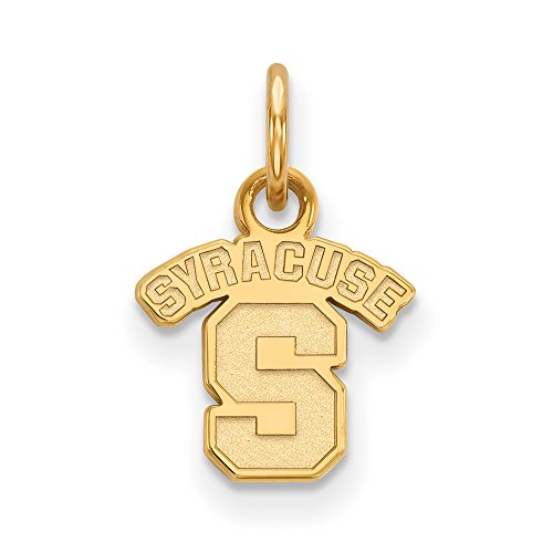 Syracuse Extra Small (3/8 Inch) Pendant (14k Yellow Gold) by LogoArt