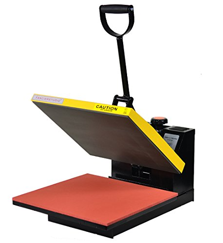 Fancierstudio Power Heat Press 15-by-15-Inch Digital Sublimation Heat Press, Black and Yellow ()