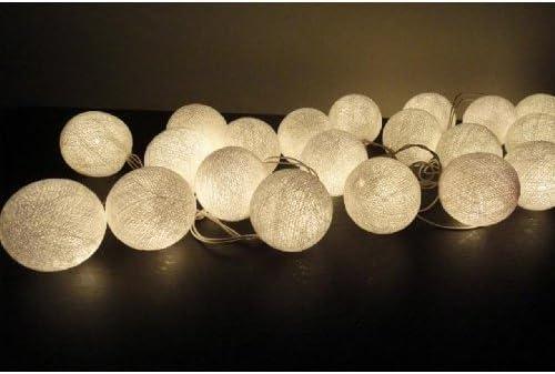 Blanco farol luces tono – Bolas de algodón hecho a mano decoración ...