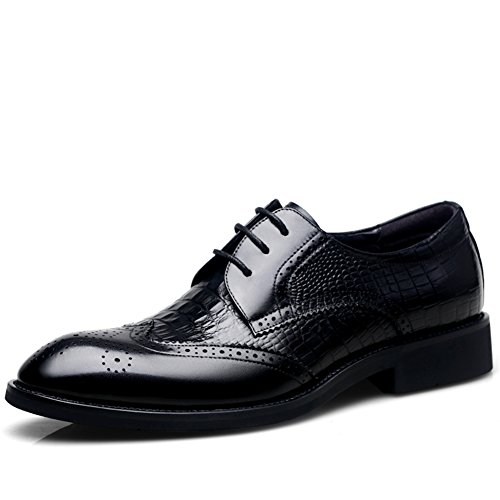 Men's Leather Casual Shoes Dress Autumn Big Feet Wedding Fashion Slip On Black-brown Black tumblr cheap online buy cheap fast delivery W54eeh9hLQ