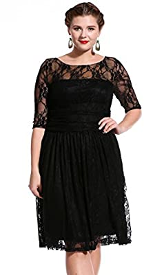 Dilanni Women maxi Lace Dresses Cocktail Wedding Dress Mother of Bride Dresses