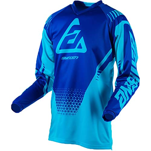 Answer Racing A19 Syncron Drift Youth Boys Off-Road Motorcycle Jersey - Astana/Reflex Blue/Large