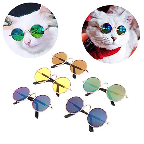 Dog Accessories - 1pc Fashion Glasses Small Pet Dogs Cat Sunglasses Eye Wear Protection Cool Photos Props Color - Flag Hair Small Expensive Bath Travel Backpack Outfit Home Moon Collar -