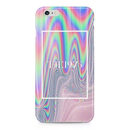 The 1975 Colorful Paint Rad Tye Dye Soap Film Trippy Holographic Hard Plastic Snap-On Case Cover For iPhone 6 Plus