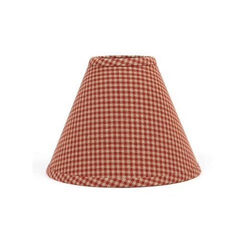 (Home Collection by Raghu Newbury Gingham Barn Red Lampshade, 10