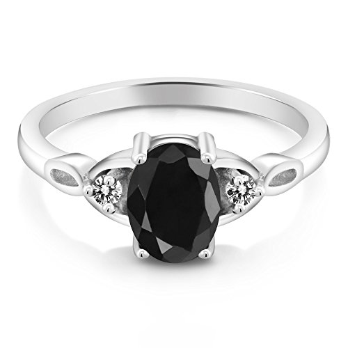 Buy womans black sapphire ring size 8