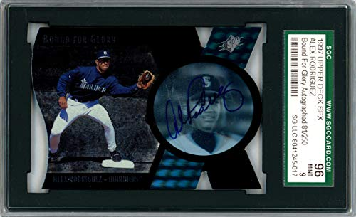 Alex Rodriguez Autographed 1997 SPX Bound for Glory Autographs Card Seattle Mariners Mint 9 SGC 96 SGC #8041245-017 - Upper Deck Certified ()