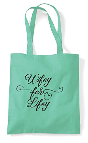 Wifey Shopper Mint For Personalised Customised Hen Lifey Do Hen Bag Party Tote v7CPqxEnw6