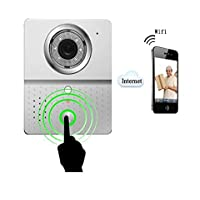 ALEKO HL3601 WIFI Wireless Visual Intercom Doorbell Security Camera Door Phone for Iphone Ipad Samsung Android IOS System Mobile Phone