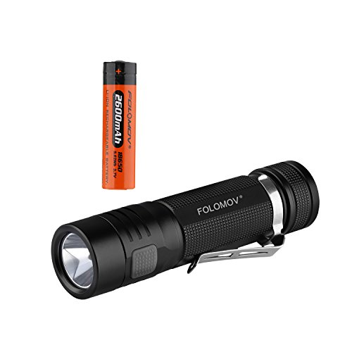 (FOLOMOV EDC C4 (Flashlight Power Bank In One), 1200 Lumens,XP-L V6 Led, Switch-lock Guard Function, 2600mah Protected Battery Included,IPX-6 Waterproof)