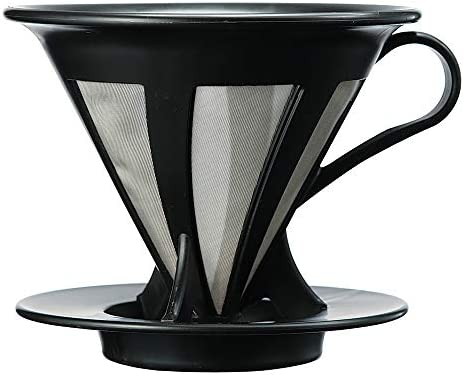 Hario Cafeor Stainless Steel Coffee Dripper Size 02, Black