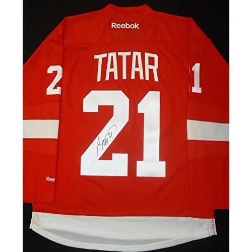 best service ecd49 3359a hot sale 2017 Autographed Tomas Tatar Jersey - Home ...
