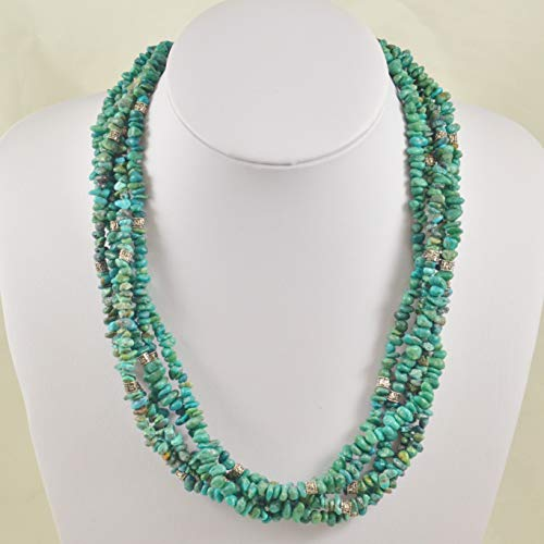 Multi-Strand Western Style Turquoise Necklace