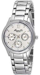 Kenneth Cole Mens 37mm Steel Bracelet & Case Quartz Silver-Tone Dial Analog Watch 10029558
