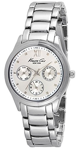 Kenneth Cole Men's 37mm Steel Bracelet & Case Quartz Silver-Tone Dial Analog Watch 10029558