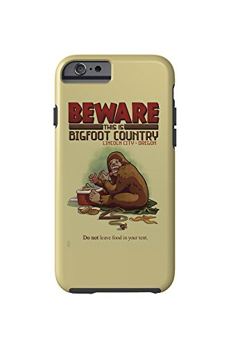 Lincoln City, Oregon - Bigfoot Country - Don't Store Food in Tent (iPhone 6 Cell Phone Case, - City Stores Lincoln Oregon In