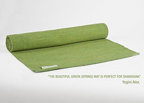 "Yogasana Yoga Mat thick rug hot yoga 100% Cotton Eco-friendly 24""x72"" Green"