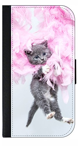 Kitty In Feathers Phone Case Compatible with the Samsung Galaxy s9 - Wallet Style with Card Slots