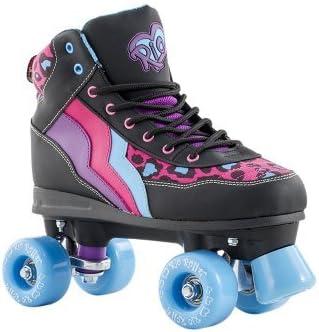 RioローラースタイルLtd EditionディスコRoller Skates – Leopard jnr13 by Rioローラー