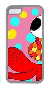 Fish Case for iPhone 5C, Cartoon Fish iPhone 5C TPU Transparent Case