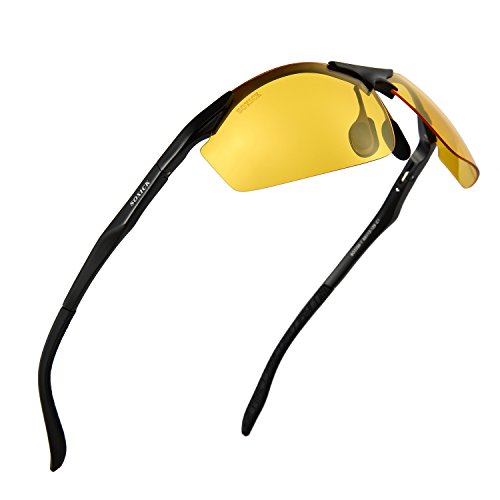 Night Driving Glasses - Anti-glare HD Vision - Safety Sunglasses for Men and Women Cycling or - Sunglasses Light Enhancing