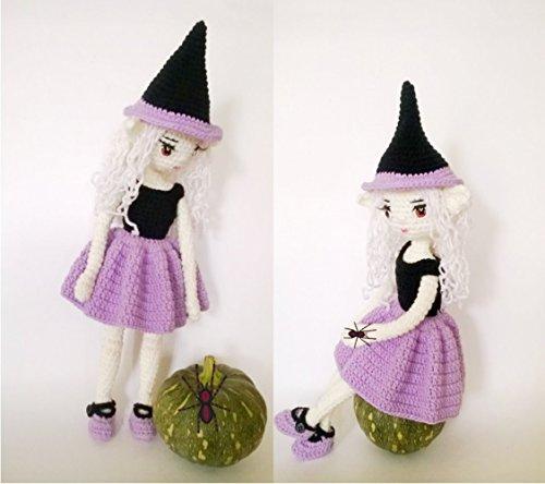 Doll amigurumi: Halloween witch Fairy, doll crochet]()