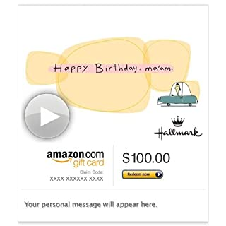 Amazon Gift Card - Email - Happy Birthday, Ma'am (Animated) [Hallmark] (B00H5BMGFO) | Amazon price tracker / tracking, Amazon price history charts, Amazon price watches, Amazon price drop alerts