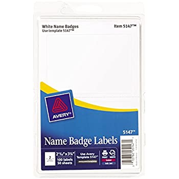 amazon com avery 5395 adhesive name badge labels rectangular