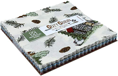 Cozy Cabin Charm Pack 42 5-inch Squares by Kris Lammers, used for sale  Delivered anywhere in USA